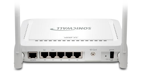 SonicWALL TZ 205 Wireless Series - Back View