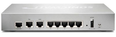 SonicWALL TZ 215 Series - Back View