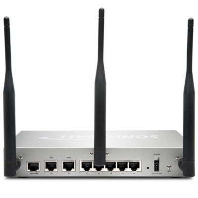 SonicWALL TZ 215 Wireless Series - Back View