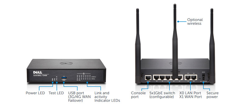 Dell SonicWALL TZ 400 Spec