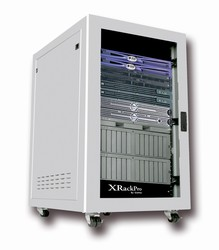 XRackPro2 25U Noise Reduction Server Rack Enclosure Rackmount Cabinet in Platinum