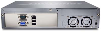 SonicWALL CDP 210 and 220 Back View