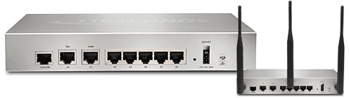 SonicWALL NSA 220 Series Rear View